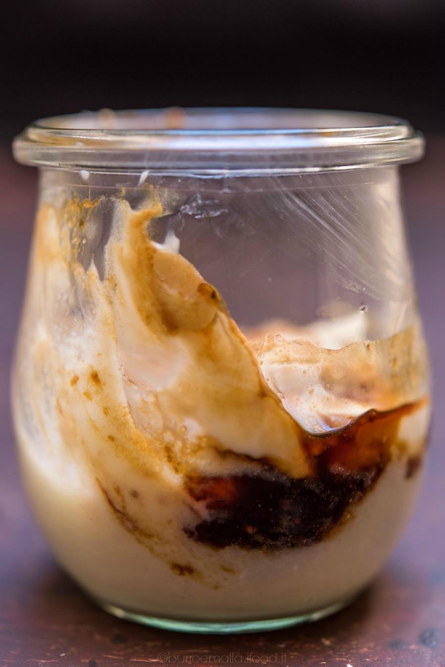 bicchierini di crema di semola mascarpone e fichi caramellati