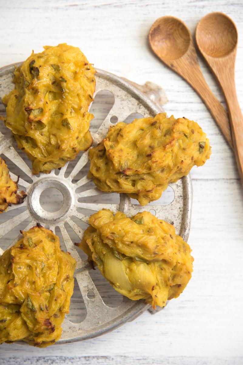 Onion bhaji cotte al forno
