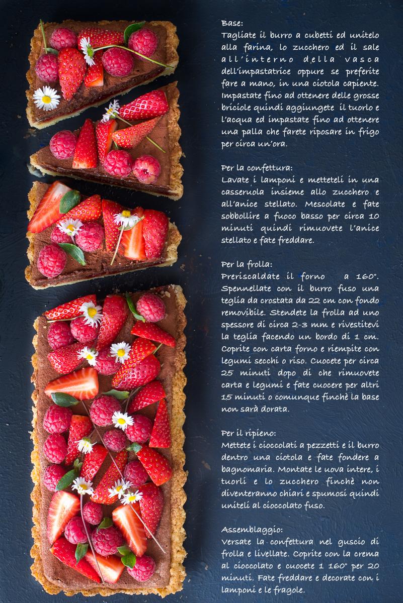 chocolate raspberry tart di ottolenghi foto con procedimento