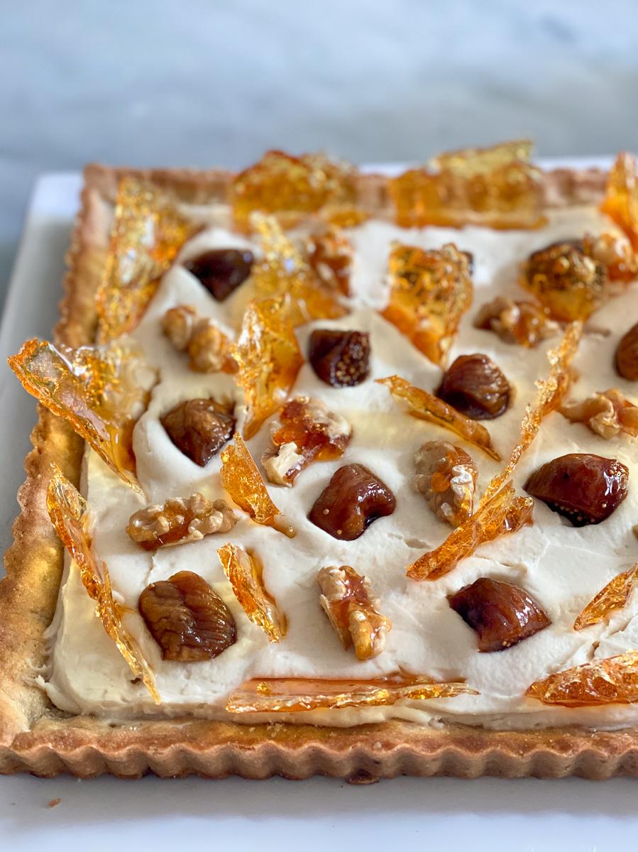 Crostata con crema di mascarpone al marsala